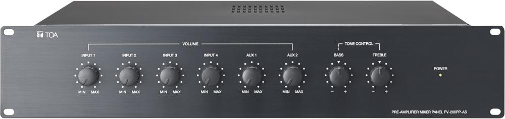 Bộ mixer tiền khuếch đại TOA FV-200PP-AS hệ thống âm thanh trong văn phòng làm việc